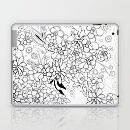 Succulents, black and white Laptop & iPad Skin