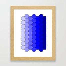 Hexagons (Blue) Framed Art Print