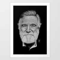 robin williams Art Prints featuring Robin Williams by Svartrev