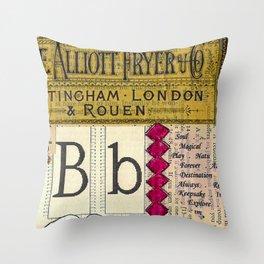 Bb Throw Pillow