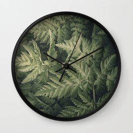 SHADED GREEN FERN Wall Clock
