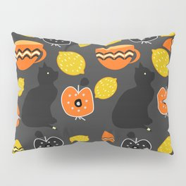 Cats, lemons and teacups Pillow Sham