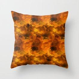 Languid Lava Throw Pillow