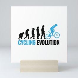 Cycling Evolution T Shirt Bicycle TShirt Cyclist Shirt Evolution-Look Gift Idea Mini Art Print