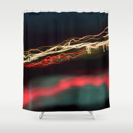 Road Lights Shower Curtain