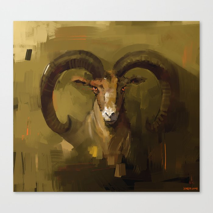 Blue Sheep Canvas Print