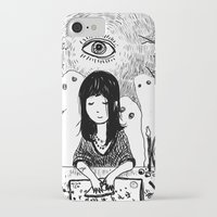ouija iPhone & iPod Cases featuring Ouija by Rachel Star Art