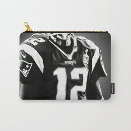 Tom Brady poster, canvas, New Eng-land Patriots for Wall Art Decor, Gym, Home Living, Bedroom, Office Decorations,, mancave with quote Carry-All Pouch
