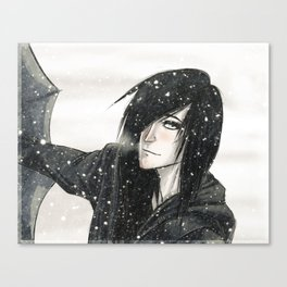 winter kiss Canvas Print