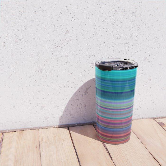 Blurry Saturn Stripes Travel Mug