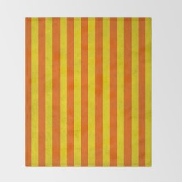 Stripes Collection: Citrus Throw Blanket