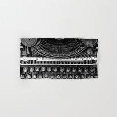 Typewriter Hand & Bath Towel