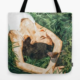 Jungle Vacay #painting #portrait Tote Bag