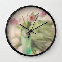 romance Wall Clocks featuring Romance by Kim Bajorek