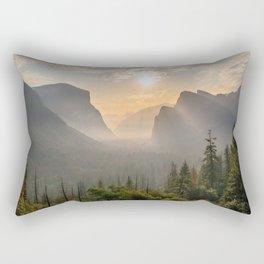 Morning Yosemite Landscape Rectangular Pillow