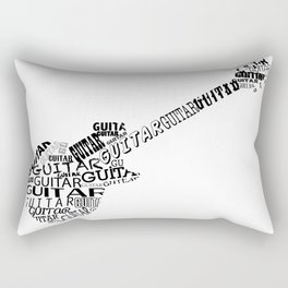 Guitar In Text Rectangular Pillow