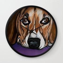 Dog, acrylic on canvas Wall Clock