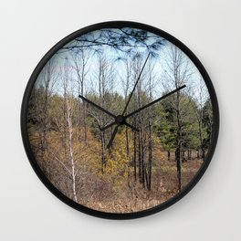 Late Autumn in the Forest Wall Clock