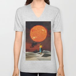 Your Heart Is The Sun Unisex V-Neck