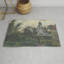 Camille Pissarro - The Marguerite Church, Knocke Rug