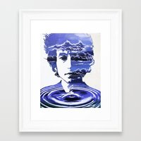 dylan Framed Art Prints featuring Dylan by Alex Carlson