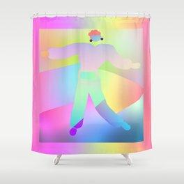FROLICKING FIGURE Design Illustration Print Pattern Shower Curtain