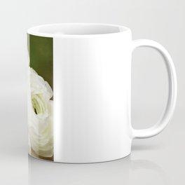 Spring Botanical -- White Ranunculus Flowers Coffee Mug