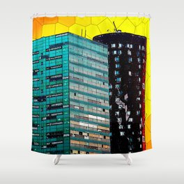 Gran Via Sunset Shower Curtain
