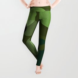 """Retro Green Super Dots"" Leggings"