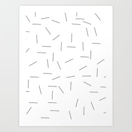 Scattering in black and white Art Print