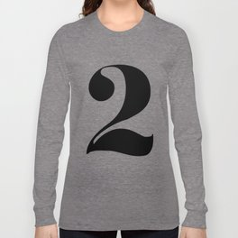 number 2 Long Sleeve T-shirt