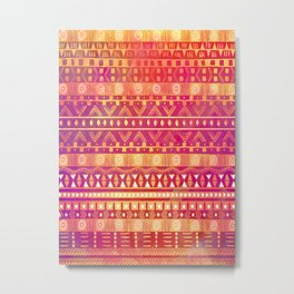 Inspired Aztec Pattern Metal Print