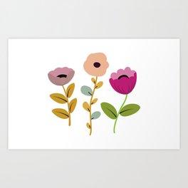 Floral Trio Artwork Art Print