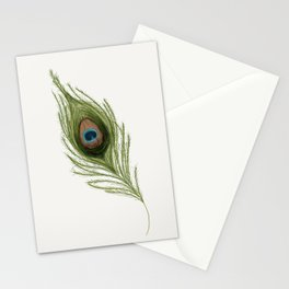 Peacock Feather Stationery Cards
