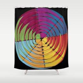 Kolaid Mandala on black Shower Curtain