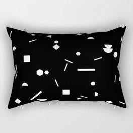 My Favorite Pattern 3 black Rectangular Pillow