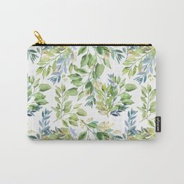 Spring Leaves watercolor pattern Carry-All Pouch