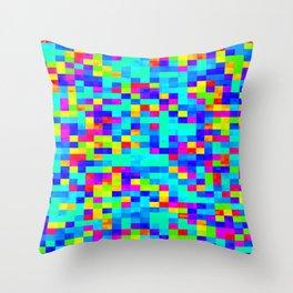 Chromoscope IV ][ Revert Future Raster Throw Pillow