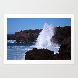 coast of lanzarote Art Print