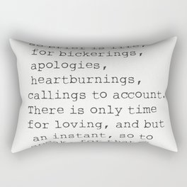 """""""There isn't time..."""" Mark Twain quote Rectangular Pillow"""