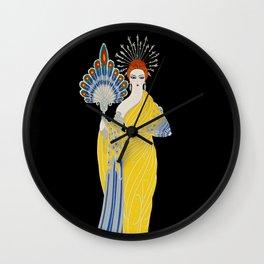 """Art Deco Design """"Aphrodite"""" by Erte Wall Clock"""