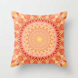 Mandala spiritual strength Throw Pillow