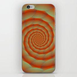 Orange Snake Skin Spiral iPhone Skin