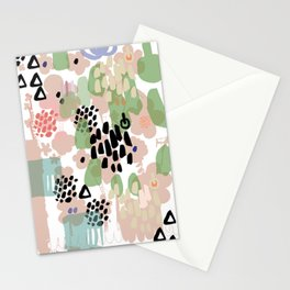 spring 2 modern contemporary Stationery Cards