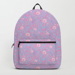 Abstract pink garden pattern in clear background Backpack