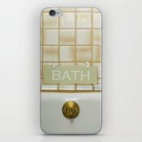 bath iPhone & iPod Skins featuring Bath by Misspeden