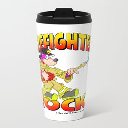 Firefighters Rock Merchandise Metal Travel Mug