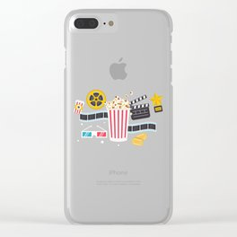 Movie Night Clear iPhone Case
