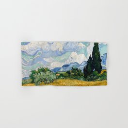 Wheat Field with Cypresses Hand & Bath Towel