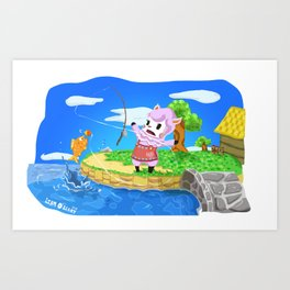 Animal Crossing - Reese Art Print